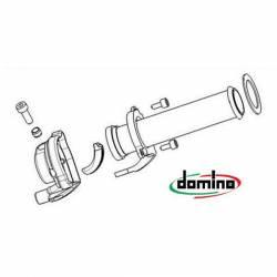 POIGNEE DE GAZ DOMINO pour TUBE 112MM PIAGGIO GAMME 50cc ZIP FLY VESPA LX125