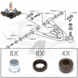 KIT RECONDITIONNEMENT TRIANGLE INFERIEUR HONDA TRX250/300/400 X/EX TRX450ER/R TRX700XX