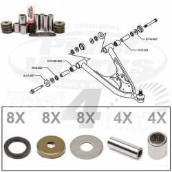 KIT RECONDITIONNEMENT TRIANGLE INFERIEUR ARCTIC CAT DVX400 KAWASAKI KFX400 SUZUKI LT-Z400