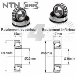 ROULEMENTS COLONNE de DIRECTION NTN YAMAHA XT660Z XT660R-X