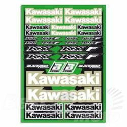 KIT STICKERS BLACKBIRD pour KAWASAKI KX KXF