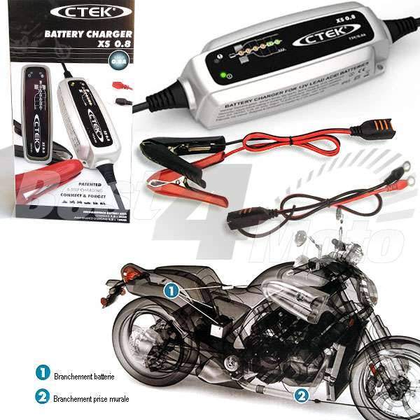 CHARGEUR BATTERIE compact CTECK XS0.8 800mA