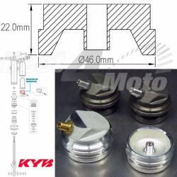 BOUCHON DE MEMBRANE Amortisseur KYB 46mm/22mm Kawasaki KX125/250/500 Honda CR125R/250R/500R Suzuki RMZ250 Husqvarna TE250/310/44