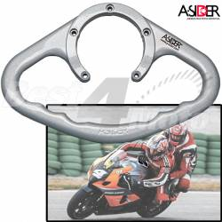 POIGNEE RESERVOIR Argent 5vis DUCATI 900/916/996/998 1000 SS/DS MV AGUSTA BRUTALE 750/910 F4 750/1000 GAGIVA 125 MITO