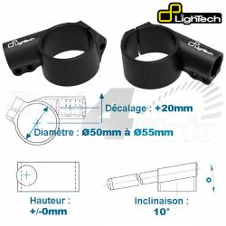 SUPPORT DEMI GUIDON Decalage 20mm Hauteur 0mm LIGHTECH