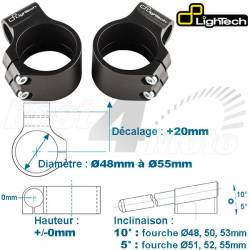 SUPPORT DEMI GUIDON Decalage 40mm Hauteur 0mm noir LIGHTECH