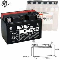 BATTERIE BS BT12A-BS / YT12A-BS Sans Entretien avec Pack Acide