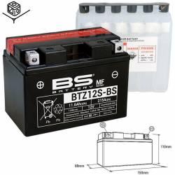 BATTERIE BS BTZ12S-BS Sans Entretien avec Pack Acide