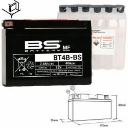 BATTERIE BS BT4B-BS/ YT4B-BS Sans Entretien avec Pack acide