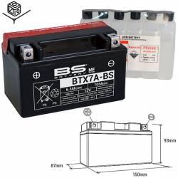 BATTERIE BS BTX7A-BS Sans Entretien avec Pack Acide