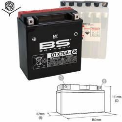 BATTERIE BS BTX20A-BS sans entretien avec pack acide