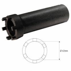 """DOUILLE à CRENEAUX 6 CRANS Colonne Direction Ø42mm 1/2"""" JMP"""