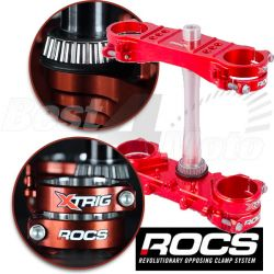 TE COMPLET X-TRIG ROCS ROUGE HONDA CRF250R 14-16 CRF450R 13-16 OFFSET 20
