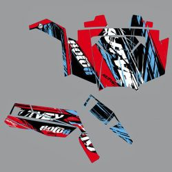 Kit DECO KUTVEK Rotor rouge Polaris RZR 900 S