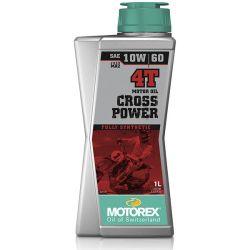 Huile moteur MOTOREX Cross Power 4T 10W60 100% synthétique 1L