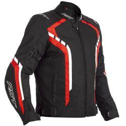 Blouson RST Axis CE textile noir/rouge homme