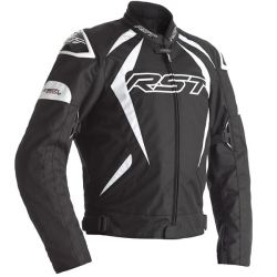 Blouson RST Tractech EVO 4 CE textile noir/blanc homme