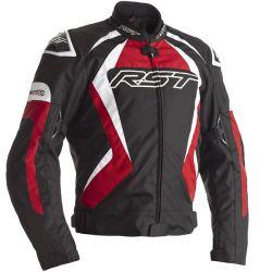 Blouson RST Tractech EVO 4 CE textile noir/rouge homme