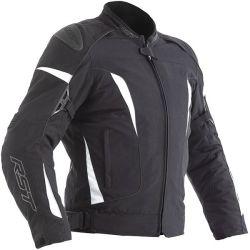 Blouson RST GT CE textile noir/blanc homme