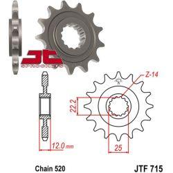 PIGNON 13 dents acier standard pas 520 type 715 Gas Gas EC200/250/300